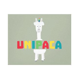 Impressão Em Tela Unicórnio Z0ghq do arco-íris da alpaca