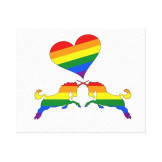 Impressão Em Tela Unicórnios do arco-íris