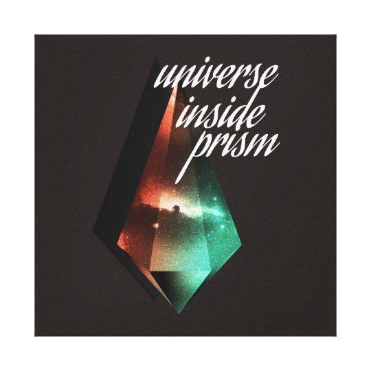 Impressão Em Tela Universe inside prism