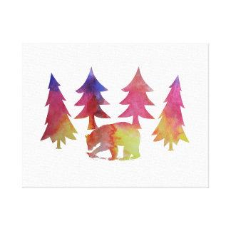 Impressão Em Tela Urso