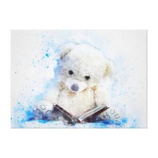 Impressão Em Tela Urso de ursinho bonito