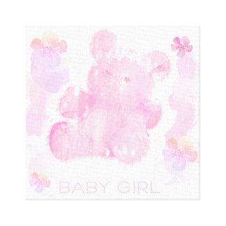 """Impressão Em Tela Urso de ursinho cor-de-rosa do bebé 14"""" x 11"""","""
