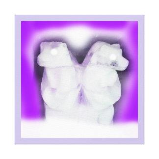 Impressão Em Tela Ursos de gelo