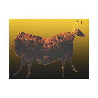 Impressão Em Tela Vaca do vermelho de Lascaux