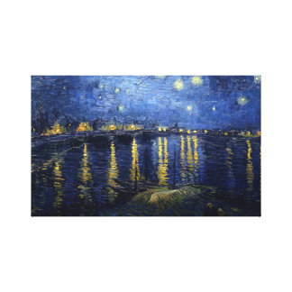 Impressão Em Tela Van Gogh: Noite estrelado sobre o Rhone