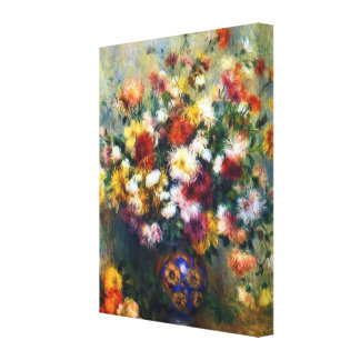 Impressão Em Tela Vaso de belas artes de Renoir dos crisântemos