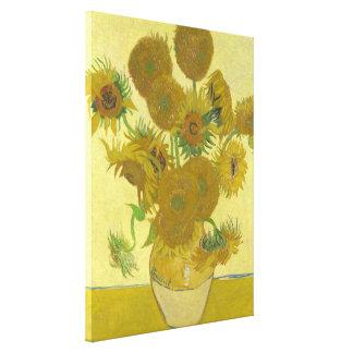 Impressão Em Tela Vaso de Van Gogh com quinze girassóis GalleryHD