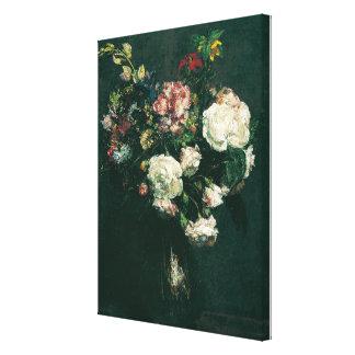 Impressão Em Tela Vaso do vintage de Henri Fantin-Latour das flores