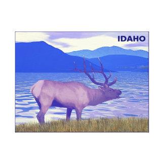 Impressão Em Tela Veado norte-americano (alce) pelo lago
