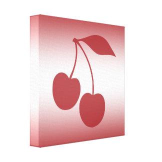 Impressão Em Tela Vermelho de cereja ao inclinação branco