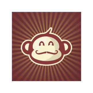 Impressão Em Tela Vermelho do macaco do bigode