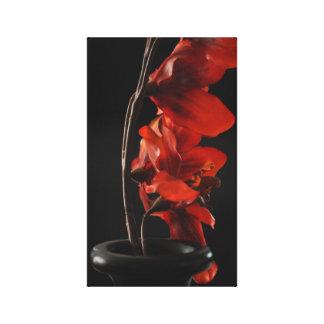 Impressão Em Tela Vermelho no preto