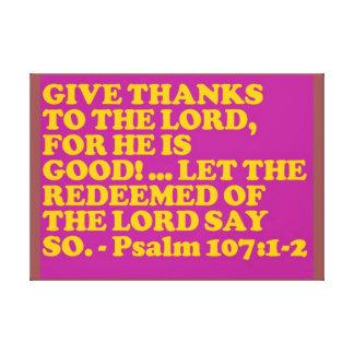 Impressão Em Tela Verso da bíblia do 107:1 do salmo - 2.