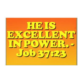 Impressão Em Tela Verso da bíblia do 37:23 do trabalho.