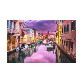 Impressão Em Tela Via navegável Venetian