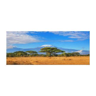 Impressão Em Tela Viagem África de Tanzânia Kenya da montanha de