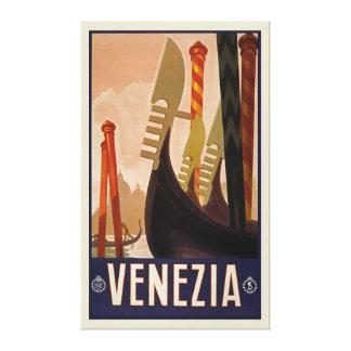 Impressão Em Tela Viagem de Venezia Veneza Italia do vintage (26,5 x
