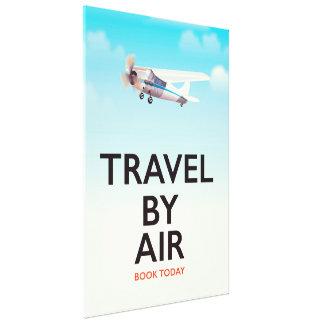 Impressão Em Tela Viagem pelo poster de viagens do ar