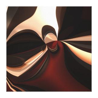 Impressão Em Tela Vício castanho chocolate da arte abstracta das can