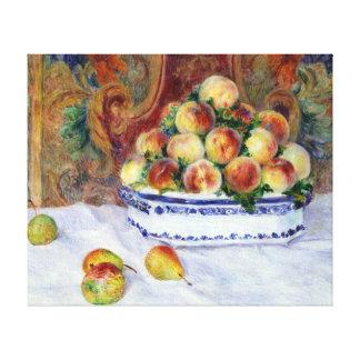 Impressão Em Tela Vida de Auguste Renoir ainda com pêssegos