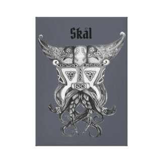Impressão Em Tela Viking medieval - Skal