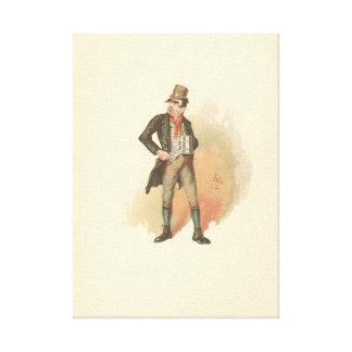 Impressão Em Tela Vintage Bill Sikes Oliver Twist