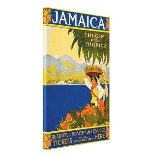 Impressão Em Tela Vintage Jamaica, a gema dos trópicos
