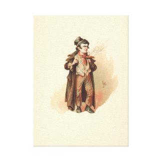 Impressão Em Tela Vintage o Dodger astuto Oliver Twist