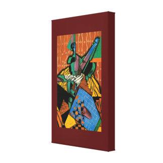 Impressão Em Tela Violino e tabuleiro de damas por Juan Gris