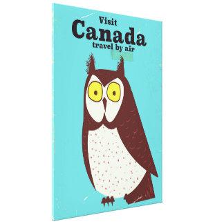 Impressão Em Tela Visite o poster da coruja de Canadá