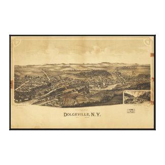 Impressão Em Tela Vista aérea de Dolgeville, New York (1890)