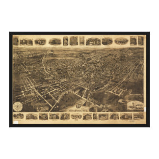 Impressão Em Tela Vista aérea de Middletown, New York (1921)