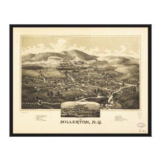 Impressão Em Tela Vista aérea de Millerton, New York (1887)