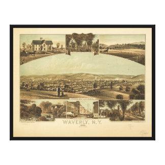 Impressão Em Tela Vista aérea de Waverly, New York pelo Moray de J