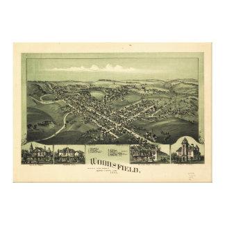 Impressão Em Tela Vista aérea de Woodsfield, Monroe Co. Ohio (1899)
