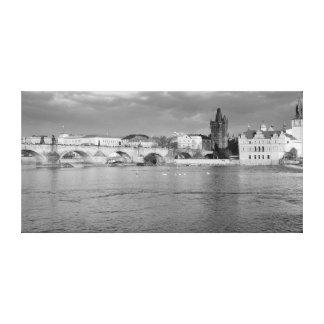 Impressão Em Tela Vista da ponte de Charles em Praga