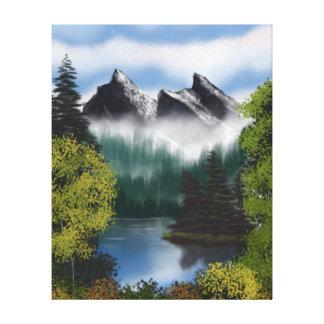 Impressão Em Tela Vista das montanhas enevoadas