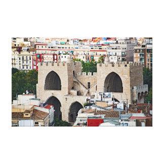 Impressão Em Tela Vista de torres de Serranos (Porta de Serrans).