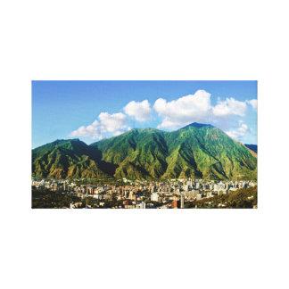 Impressão Em Tela Vista panorâmica de Avila, Caracas, Vzla