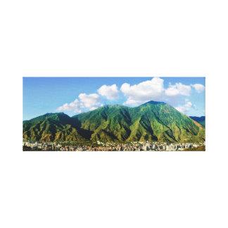 Impressão Em Tela Vista panorâmica larga de Avila, Caracas, Vzla