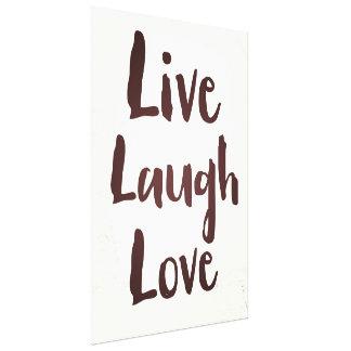 Impressão Em Tela Vivem as citações inspiradas do vintage do amor do