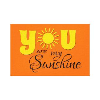 Impressão Em Tela Você é minha luz do sol