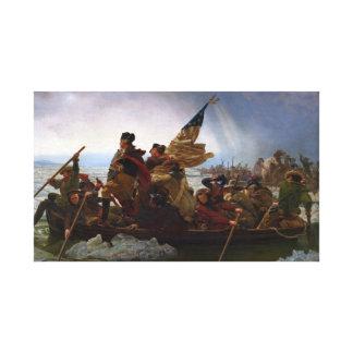 Impressão Em Tela Washington que cruza arte do Delaware - E.U. do