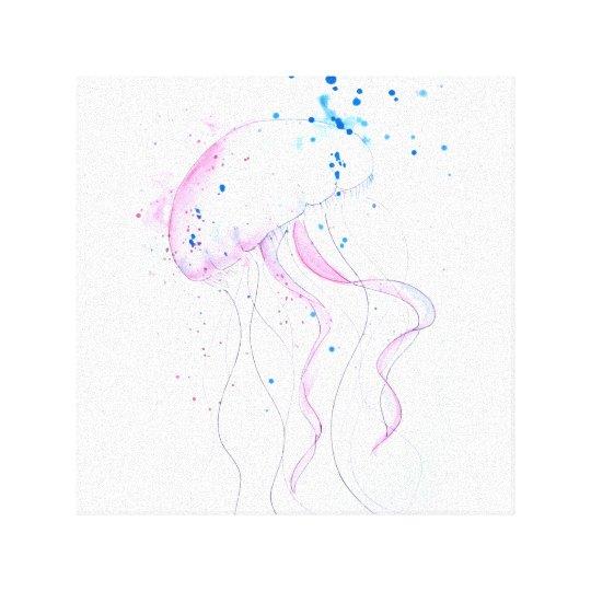 Impressão Em Tela Watercolor Sea