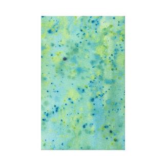 Impressão Em Tela Watercolour azul & verde Splat