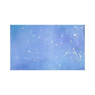 Impressão Em Tela Watercolour de mármore azul Splat