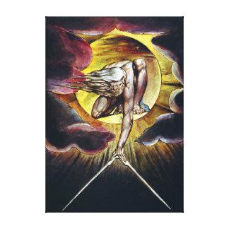 Impressão Em Tela William Blake o antigo da pintura dos dias