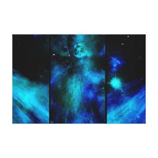 Impressão Em Tela Windows no espaço - nebulosa azul