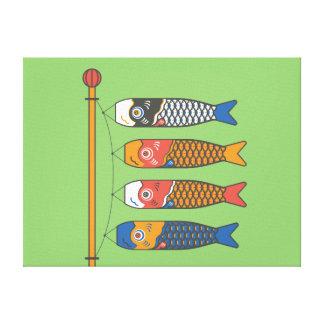 Impressão Em Tela Windsocks da carpa de Koi do japonês