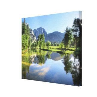 Impressão Em Tela Yosemite Falls do rio de Merced - vale de Yosemite